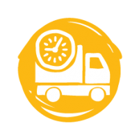 Scheduled deliveries to retail warehouses