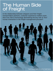 The Human Side of Freight Cover